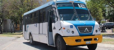 The electric bus demonstrated in Mexico City.
