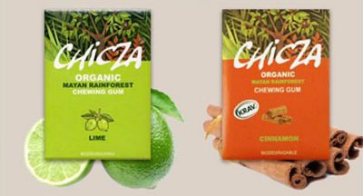 Chicza chewing gum: organic and biodegradable.