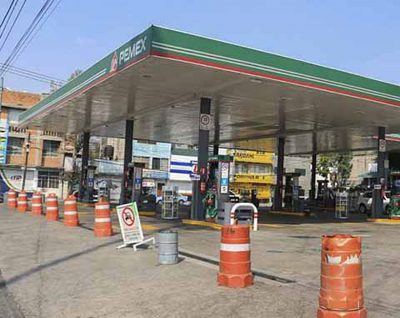One of the gas stations that closed Sunday in Chiapas.