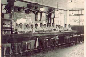 An early photo of Hussong's in Ensenada, some time before Bodie Kellogg's visit.