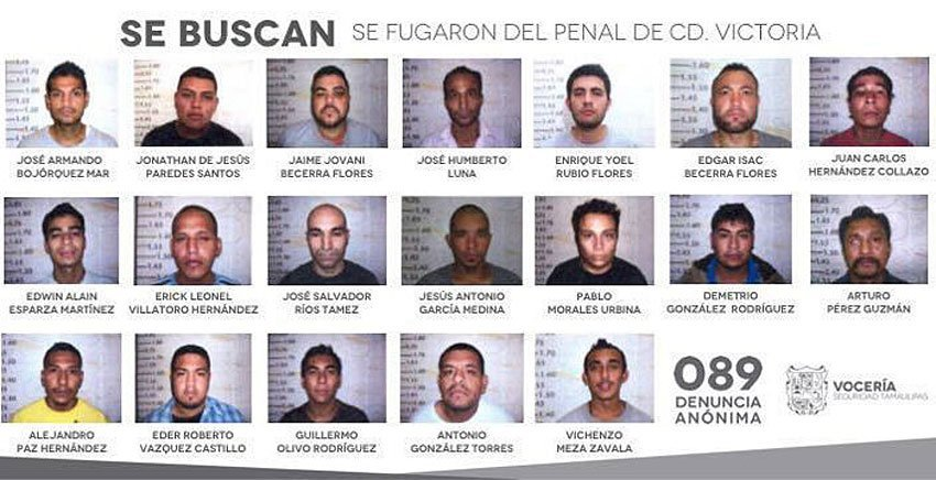 The Ciudad Victoria escapees: all but two of the inmates pictured remain at large.