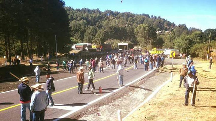 Yesterday's confrontation in Arantepacua.