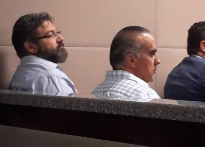 Villegas and Yáñez: charged with embezzlement.