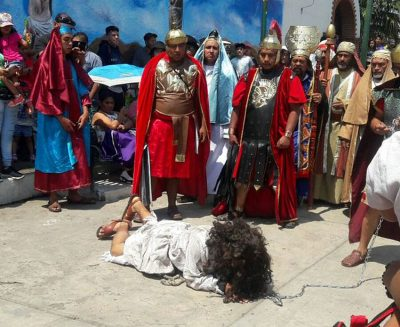 The Passion Play is under way today in many towns and cities in Mexico.