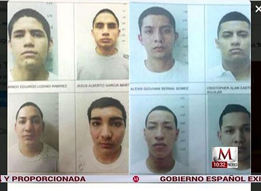 The men who escaped yesterday from a Nuevo León prison.