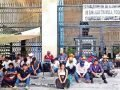 Unpaid workers on hunger strike in Chiapas.