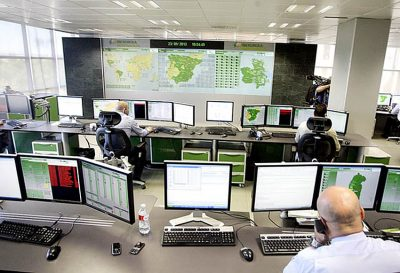 Iberdrola's monitoring center in Spain.