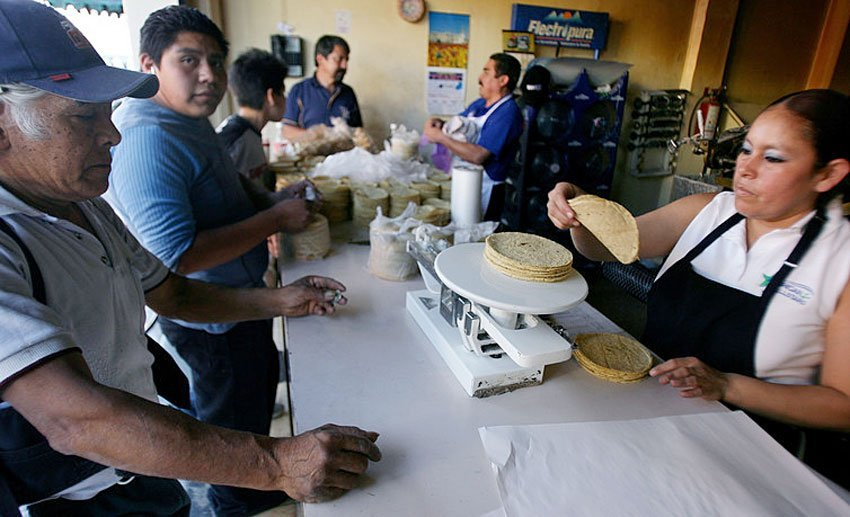 Around 98% of the corn that Mexicans use to make tortillas and other staples of their diet comes from the US.