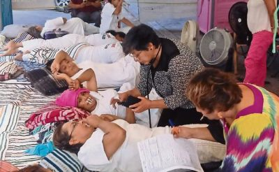 Nurses on hunger strike in Chiapas.