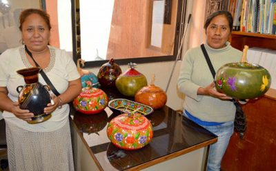 Guerrero artisans display their creations at an exhibition last year.
