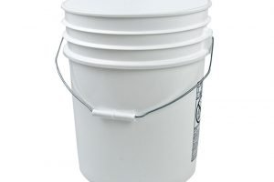 The ubiquitous five-gallon bucket, an essential piece of equipment.