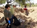 Clean-up efforts in the Colorado River delta.