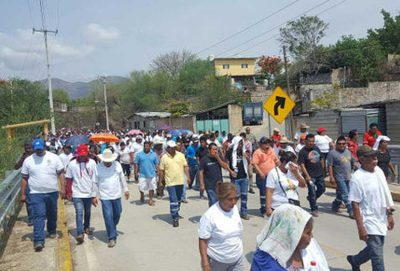 Marching for peace in Guerrero