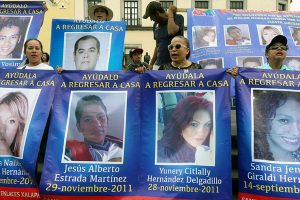 A march for the missing in Mexico City this month.