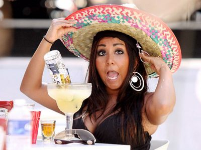 woman in sombrero with margarita