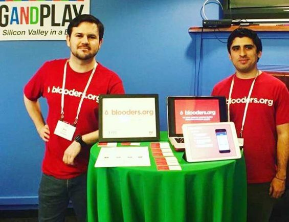 Blooders founders Javier, left, and César Esquivel in Silicon Valley two years ago.