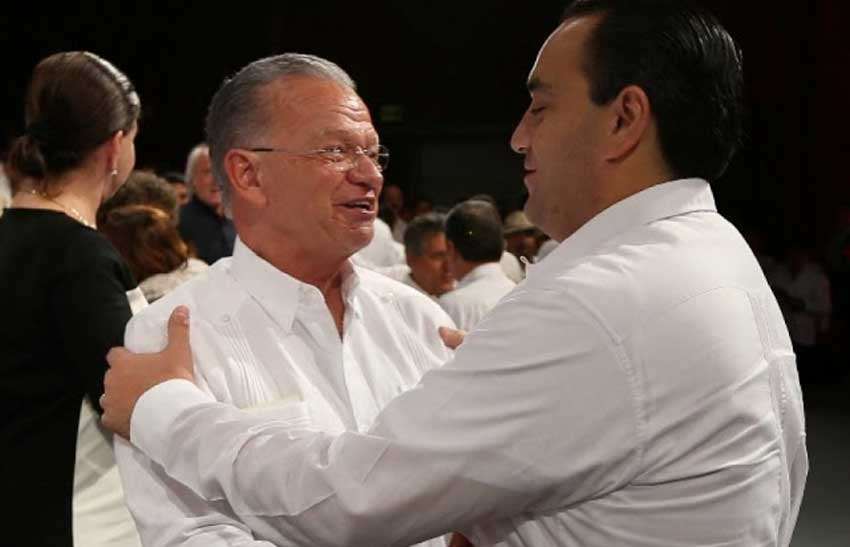 Former Tabasco governor Andrés Granier, left, and Borge.