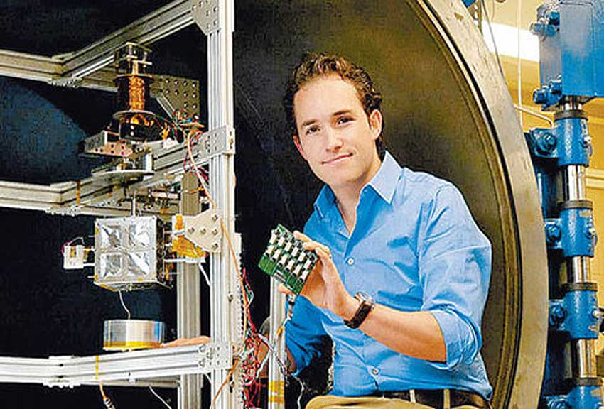 Mier-Hicks: his simulator enables testing of nanosatellites.