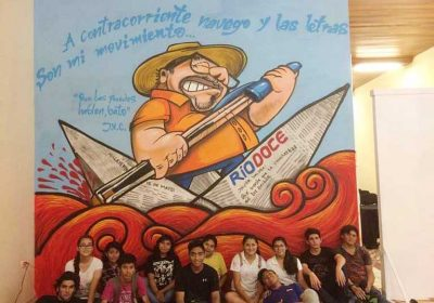 Artists in Mérida this week finished a mural that pays tribute to the murdered journalist