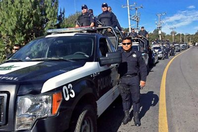 Puebla police assigned to the Zaragoza Shield security operation.
