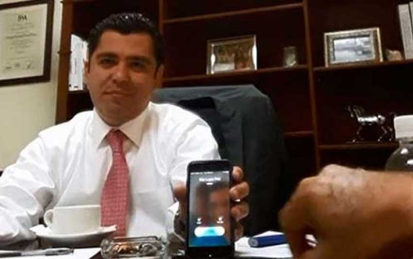 Deputy Enrique Flores in a screenshot from the video.