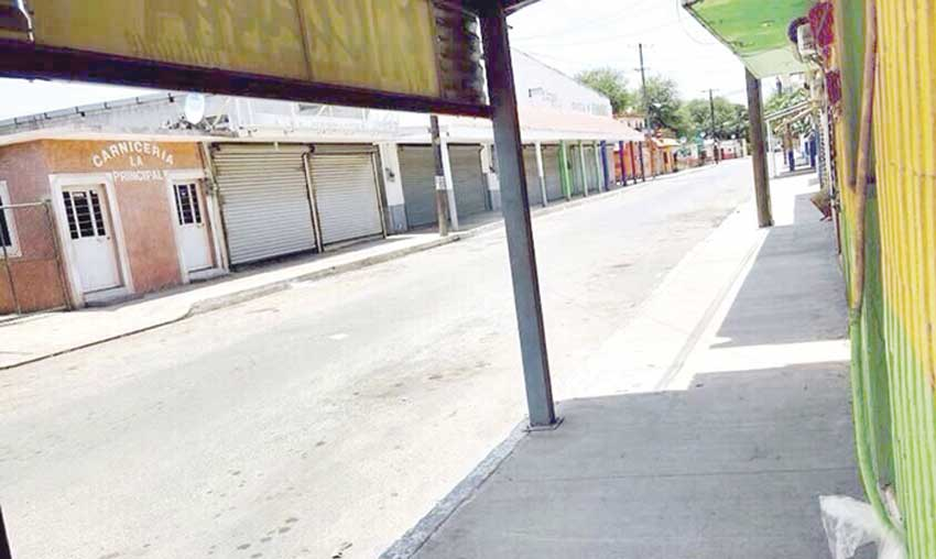 Some towns in Tamaulipas remain quiet as businesses close in protest.