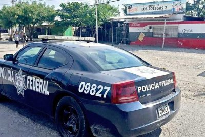 Federal Police on patrol in Tamaulipas.