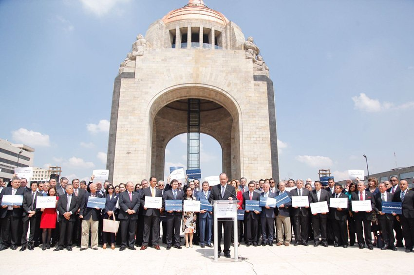 """Coparmex members gathered in Mexico City last Friday to present their """"new salary culture"""" campaign"""