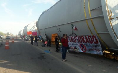 Tanks that were halted by protesters were delivered yesterday.