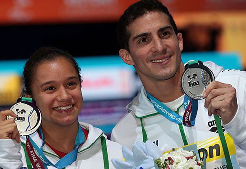 Peniche and Pacheco, silver medalists.