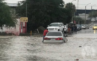 Heavy rains brought flooding to Chihuahua on the weekend