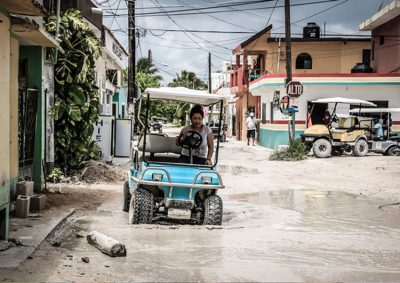 Drainage is one of the issues facing Holbox.