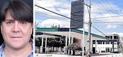 """The """"huachicolero mayor"""" and one of his gas stations after it was closed."""