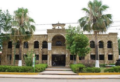 Municipal offices in Múzquiz, a candidate for nomination as a Pueblo Mágico.
