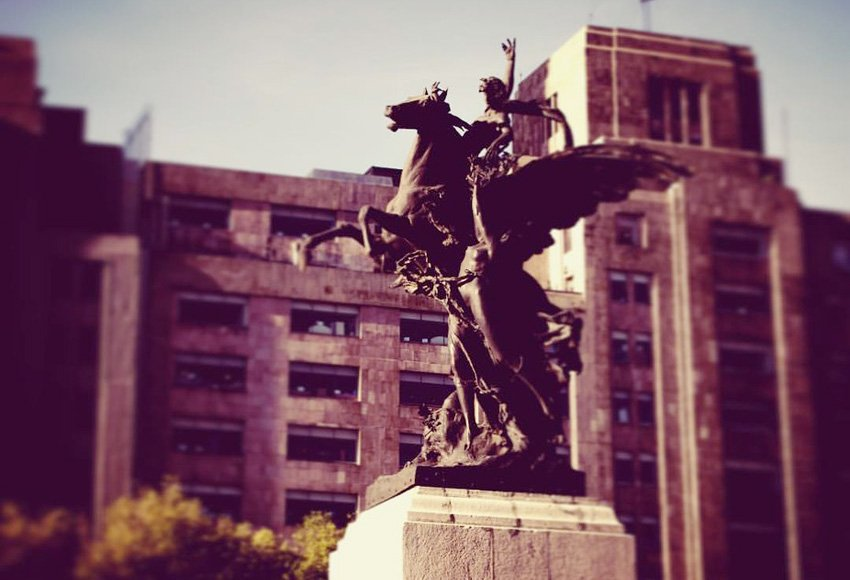 Pegasus statue in front of the Palacio de Bellas Artes, Mexico City