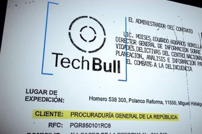 Tech Bull was a front company that sold the spyware.