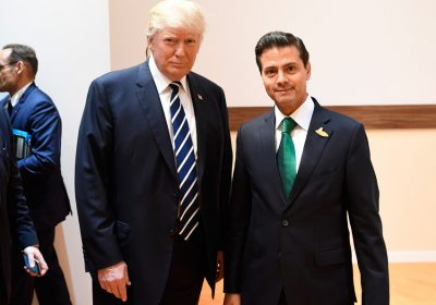 Trump and Peña Nieto at the G20 summit in Germany