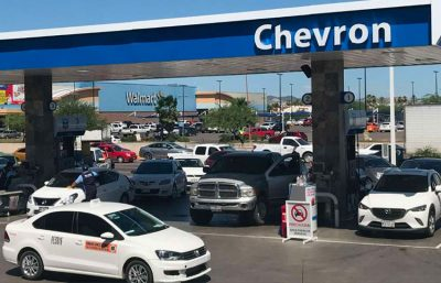 The new gas station in Hermosillo.