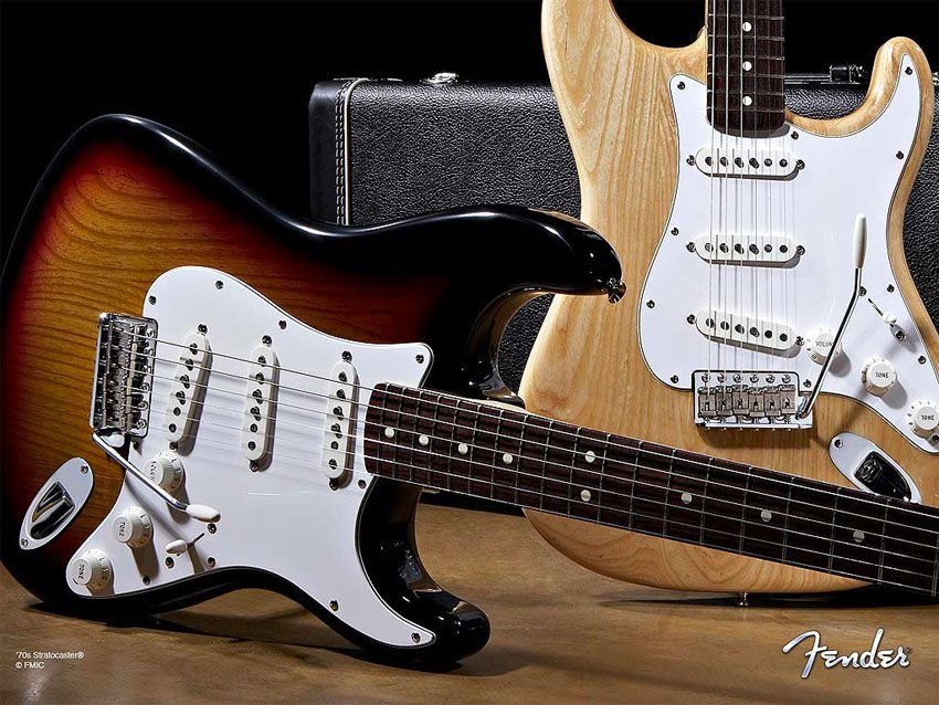 The Stratocaster: some are made in Mexico.