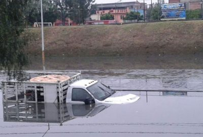 Flooding in Mexico City after yesterday's rain.