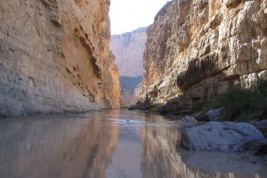 In Santa Elena Canyon, the Rio Grande separates the United States, left, from Mexico, right.