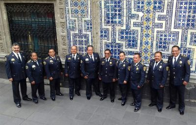 Mexico City's singing policemen.