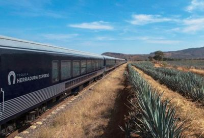 The Tequila Herradura Express, one of Mexico's tourist trains.