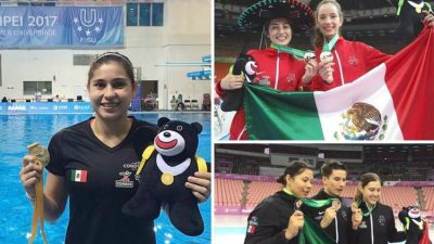 Some of Mexico's medalists in Taipei.