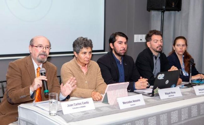 Representatives of conservation groups at this week's press conference.