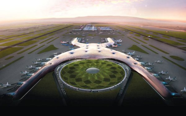 Mexico citys new airport bogged down in more ways than one artists conception of the new airport sciox Gallery