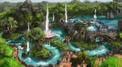 Artist's rendering of the new theme park in Quintana Roo.