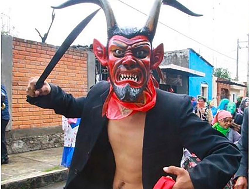 A parade during Atlixco's traditional festival.