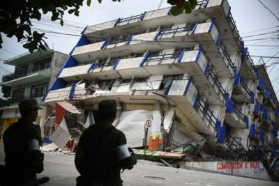 Hotel in Matías Romero collapsed in Thursday's quake.