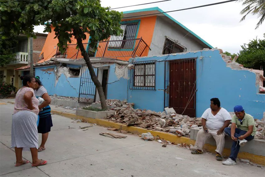 Earthquake damage in southern Mexico this week